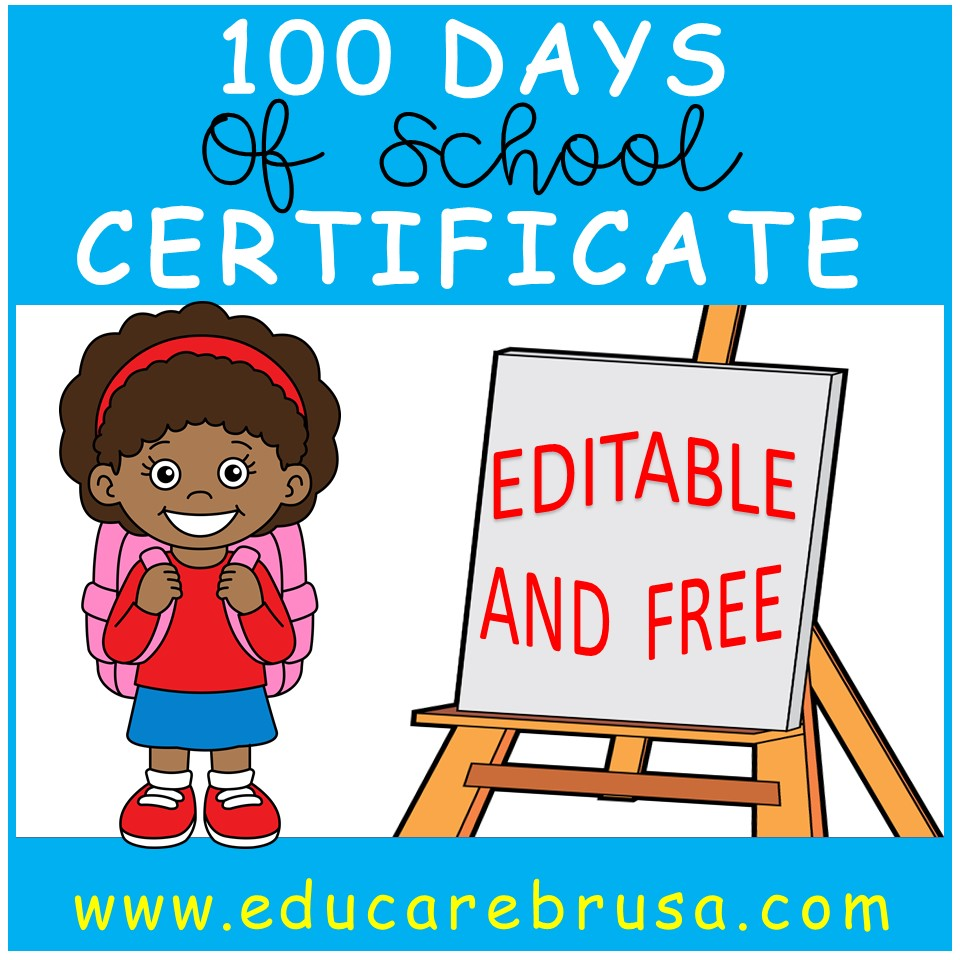 picture relating to 100 Days Printable identified as 100 Times of Higher education Certification This is Printable and Editable