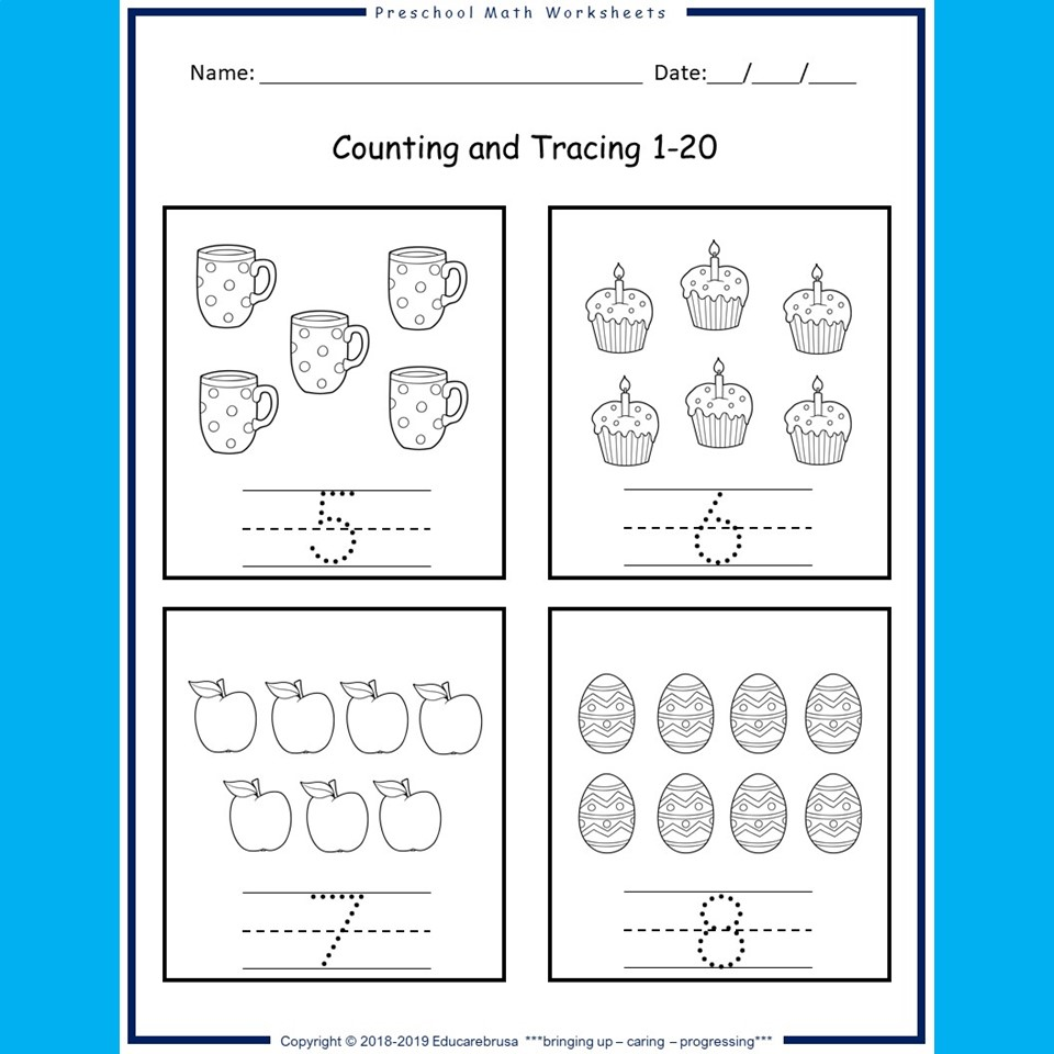 - Preschool Math Worksheets Daily Set Adapted For Special Education