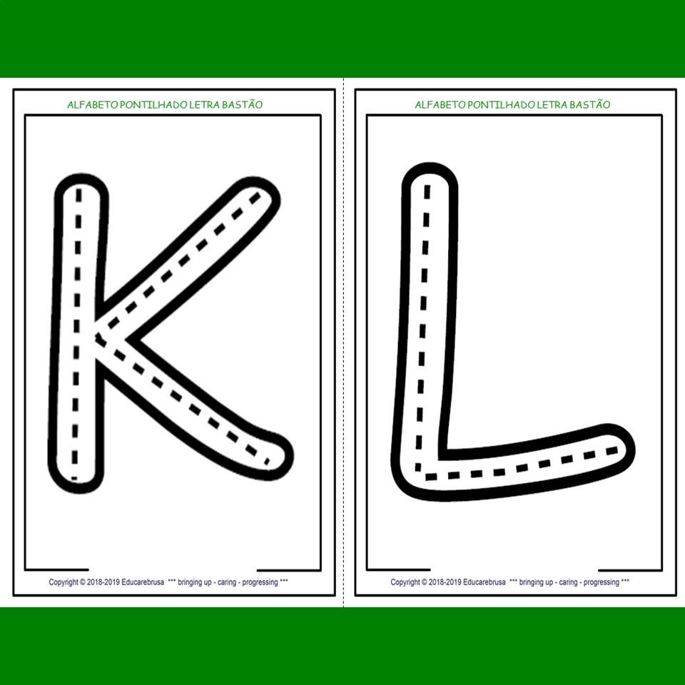 Alfabeto Pontilhado Letra Bastao Alfabeto Gigante Cobrindo Os
